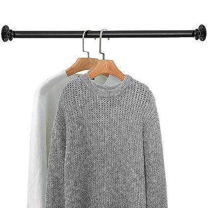 Amazon.com: MyGift Matte Black Wall Mounted Metal Corner Clothing