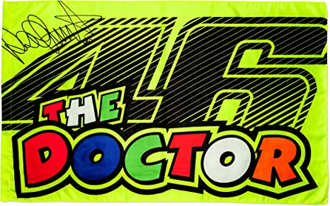 Vr46 the Doctor bandiera