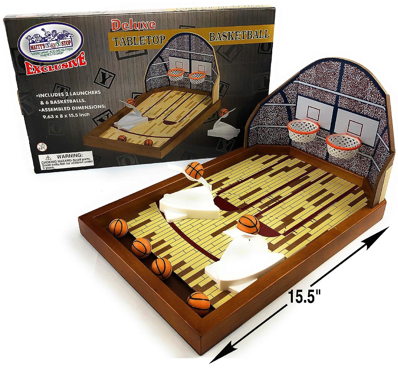 Juego de Mesa de Baloncesto Mattys Toy Stop Deluxe de Madera para ...