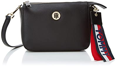 6b3ec8011d3 Tommy Hilfiger Charming Flap Crossover, Women's Cross-Body Bag, Black (Tommy  Navy