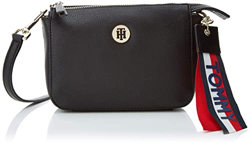 3b65cd60e534 Tommy Hilfiger Charming Flap Crossover, Women's Cross-Body Bag, Black (Tommy  Navy