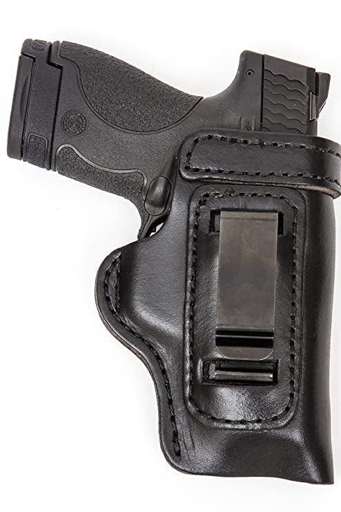The Holster Store: Leather Gun Holster For Sig Sauer P320 Compact IWB  Inside The Waistband RH Right Hand or LH Left Hand Black or Brown HD