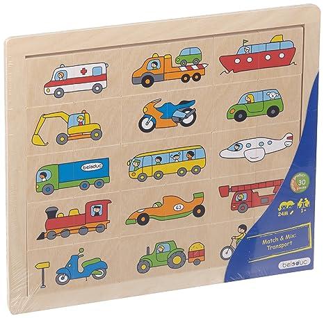 Buy beleduc Match & Mix Vehicles Jigsaw Puzzle (30 Piece