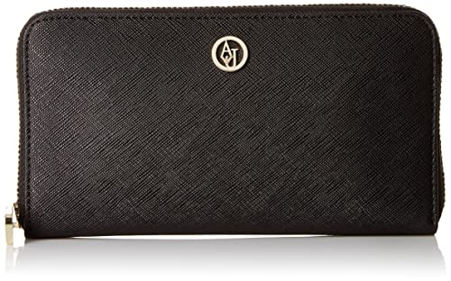 Armani Jeans Eco Saffiano Leather Zip Wallet