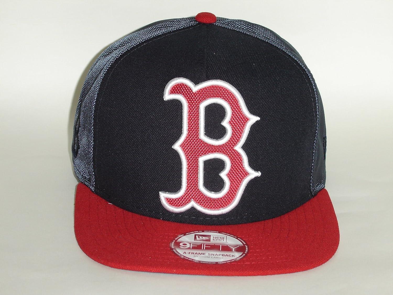 72f036025c562a Amazon.com : New Era MLB Boston Red Sox Big Logo 2 Tone 9Fifty Snapback Cap  NewEra : Sports & Outdoors