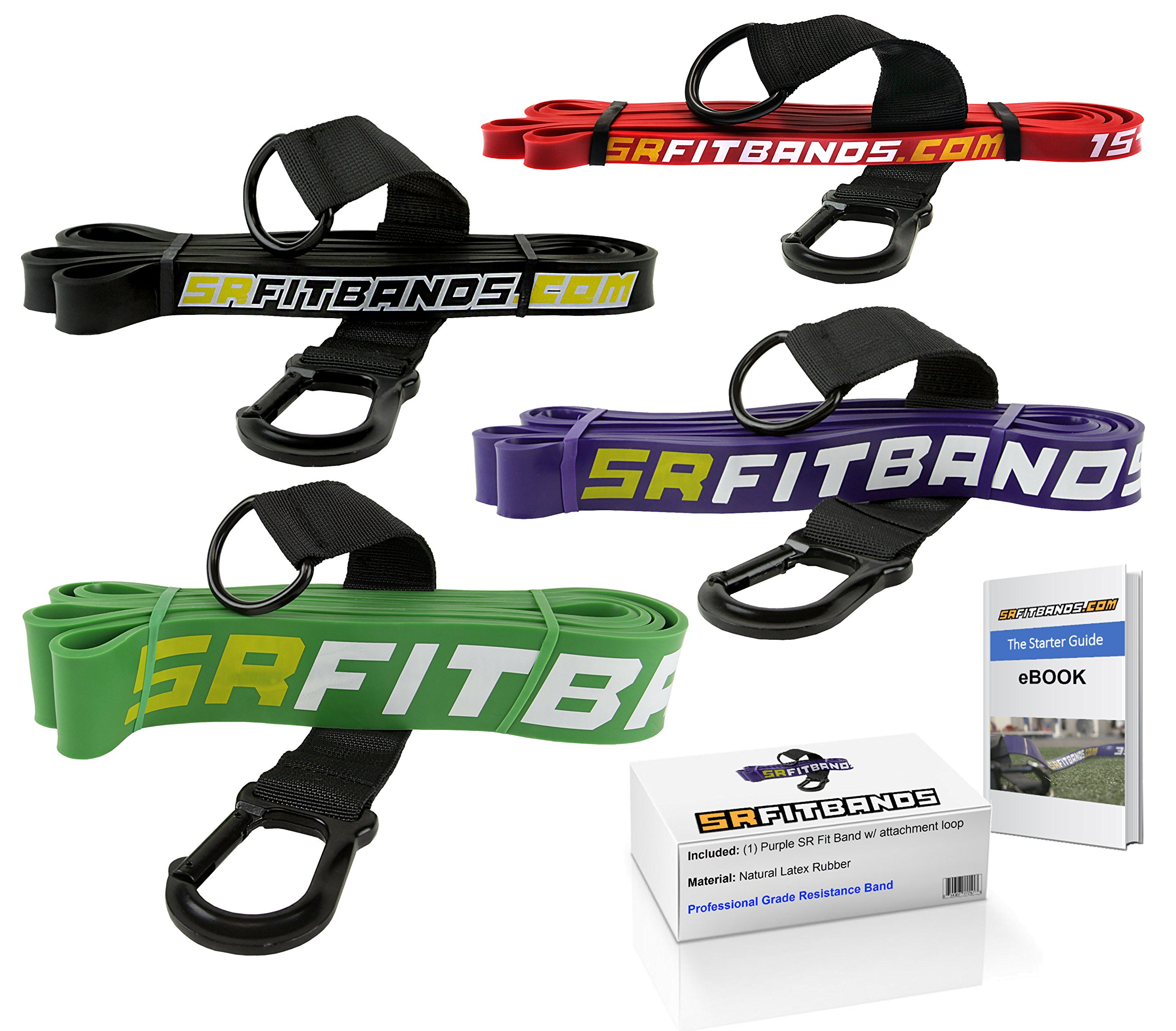 Resistance Band   Exercise Band   Fitness band: featuring the SR fit band attachment loop   Single Resistance Band - 41'' loop (Purple   35-85 lbs)