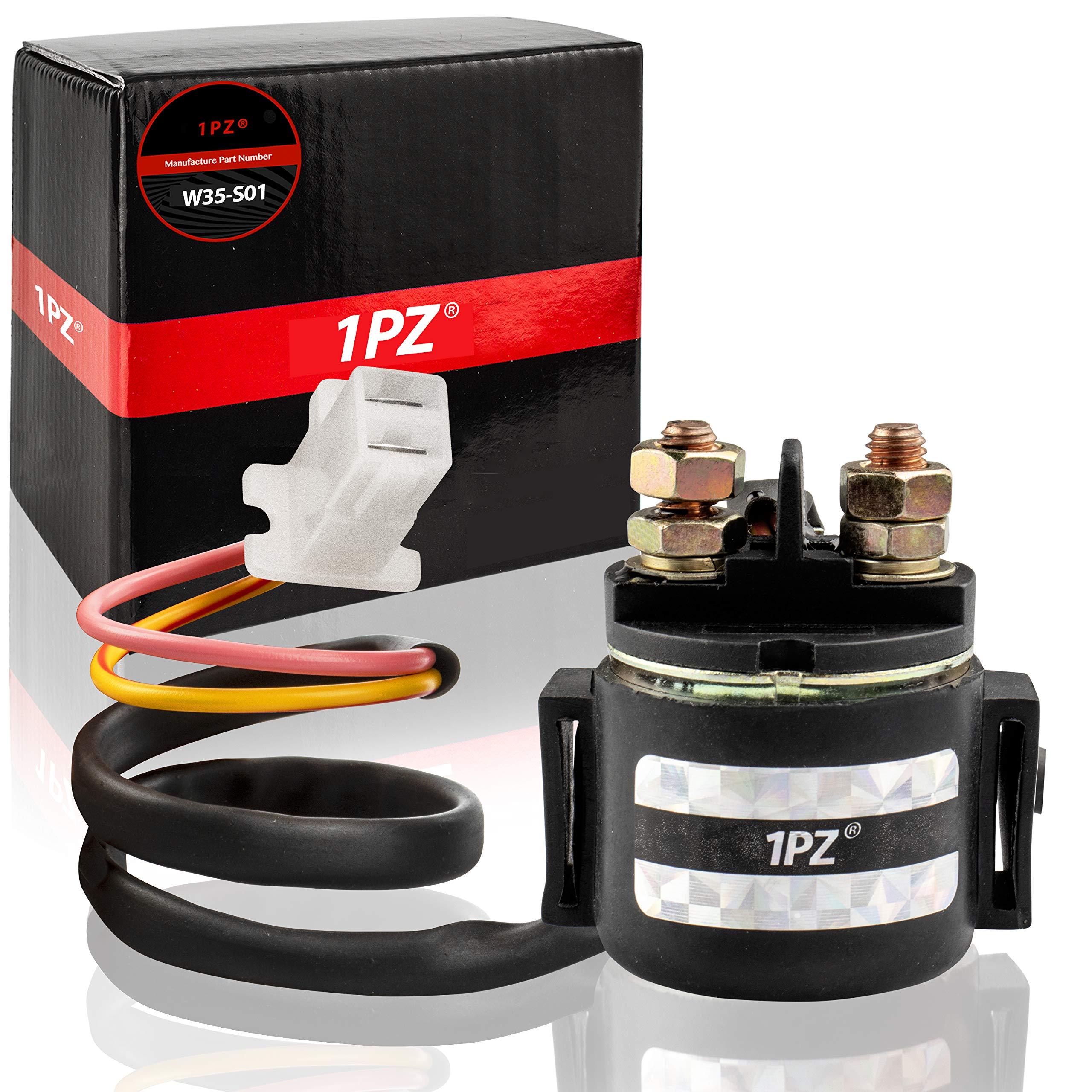 1PZ W35-S01 Premium Starter Solenoid Relay for Yamaha Warrior 350 YFM350 1987 1988 1989 1990 1991 1992 1993 1994 1995 1996 1997 1998 1999 2000 2001 2002 2003 2004 by 1PZ