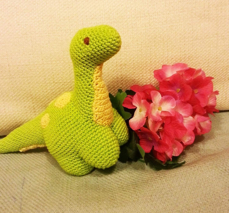 Sauro _ Dinosauro all'uncinetto Amigurumi. Regalo per bambini e neonati. Peluche da collezione. dinosauro verde