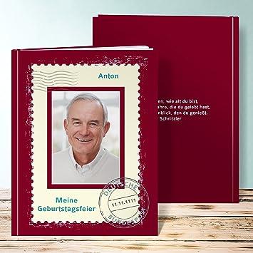 Fotobuch 60 Geburtstag Erstellen, Geburtstagspost 76 Seiten, Hardcover  234x296 Mm Personalisierbar, Rot