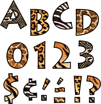 Amazon Com Trend Enterprises Inc Animal Prints 4 Venture Uc Ready Letters Themed Classroom Displays And Decoration Office Products