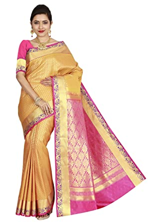 f63fc22a7e arars Women's Kanchipuram Silk Saree Wedding Bridal Collections ( 210 MB  MUSTARD )