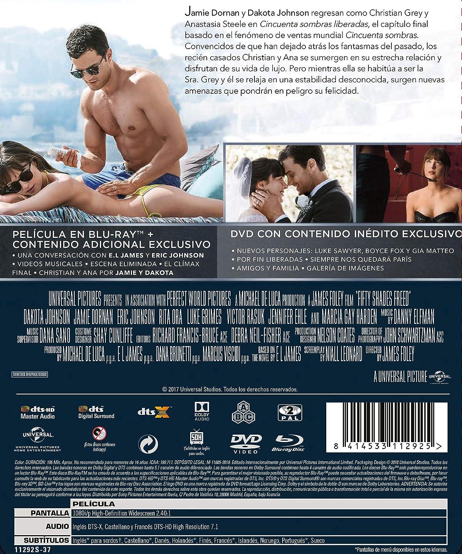 Cincuenta Sombras Liberadas [Blu-ray]: Amazon.es: Dakota Johnson ...