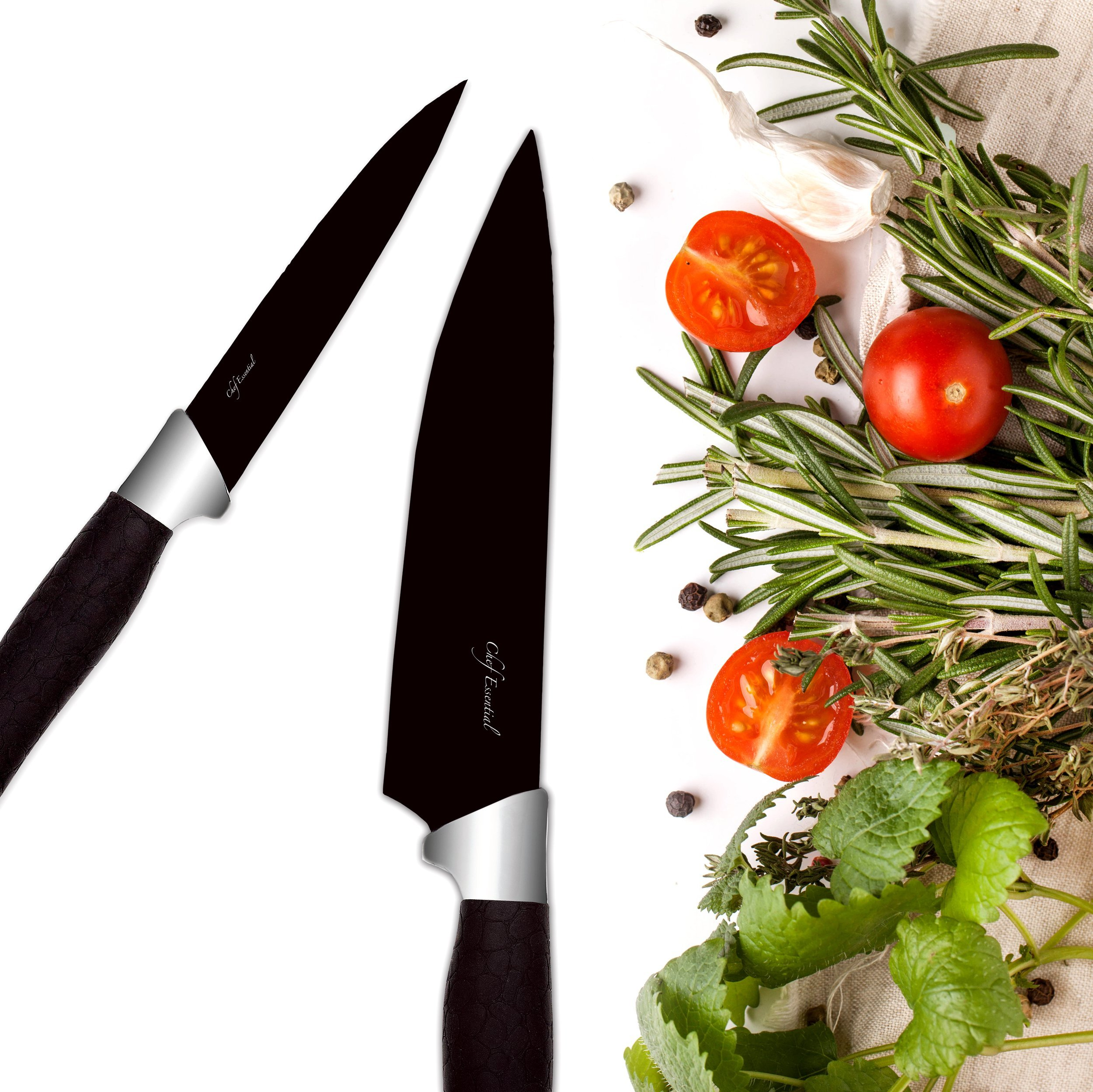 Chef Essential 7 Piece Knife Block Set, NEC Series, Black by Chef Essential (Image #5)