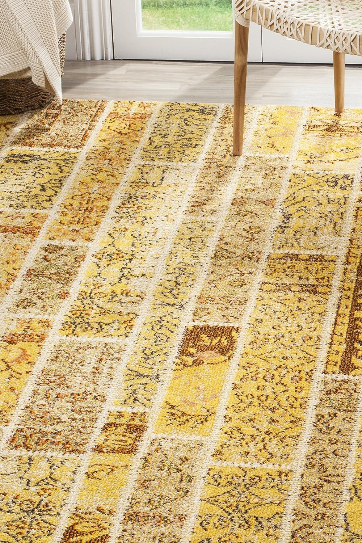 Safavieh Effi gewebter Teppich, Teppich, Teppich, MNC216K, Gelb   Mehrfarbig, 200 X 279  cm B016BPAUT8 Teppiche a59a23