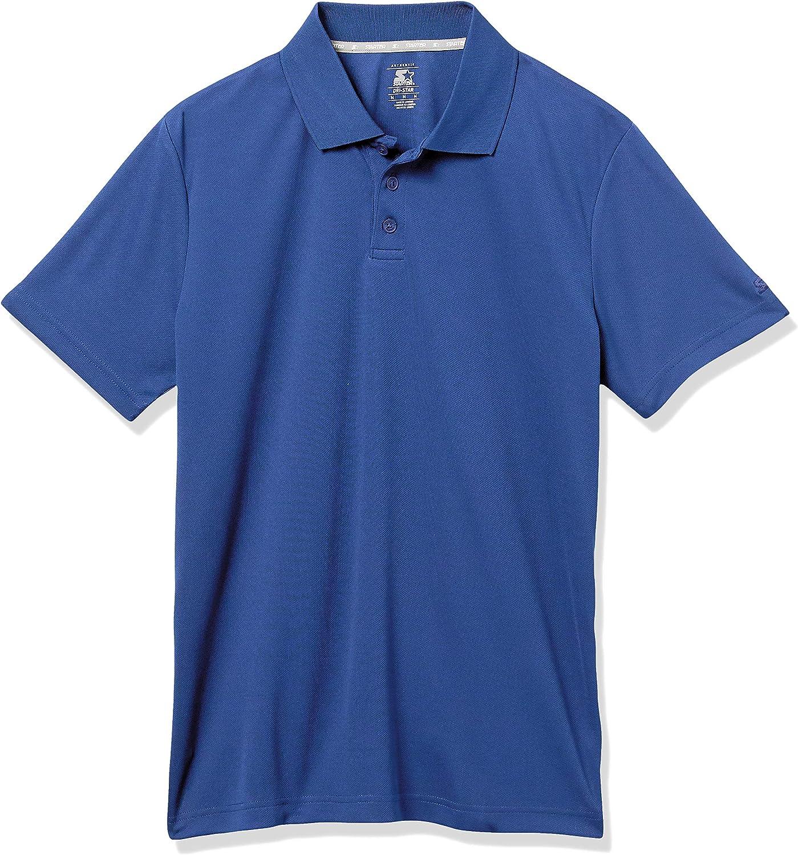 Starter Men's Short Sleeve Tech Golf Polo Shirt, Amazon Exclusive