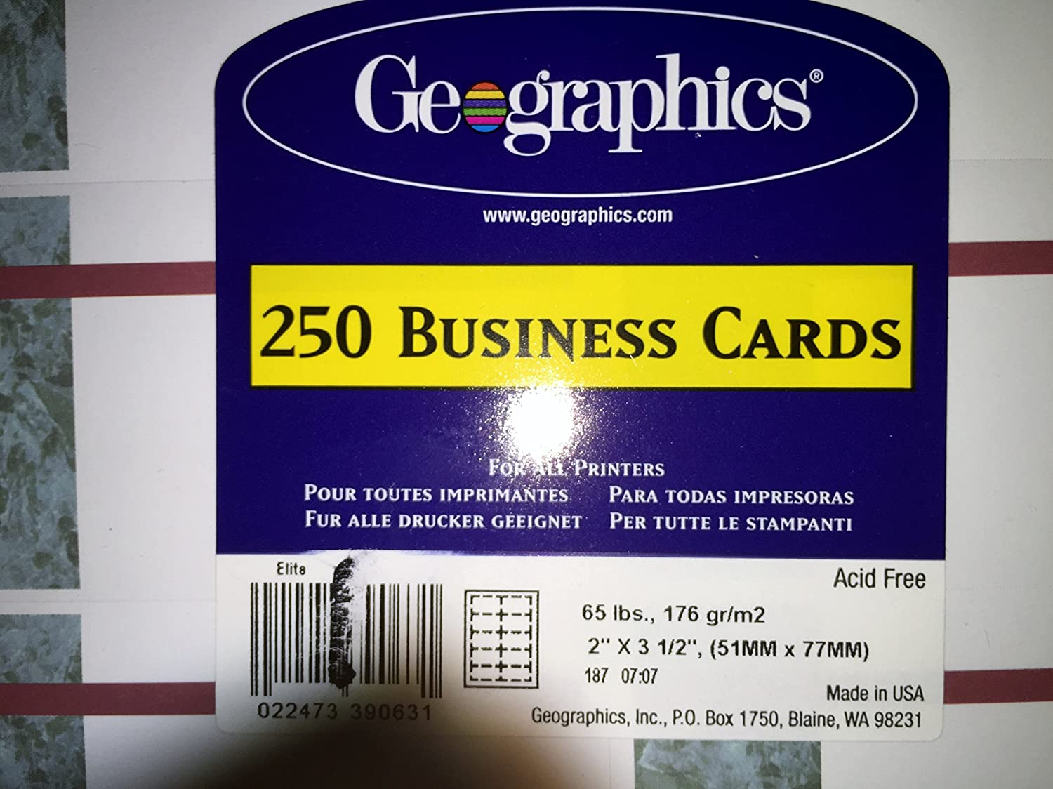 Amazon geographics do it yourself250 business cards acid amazon geographics do it yourself250 business cards acid free 2 x 35 inches made in usa home kitchen solutioingenieria Images