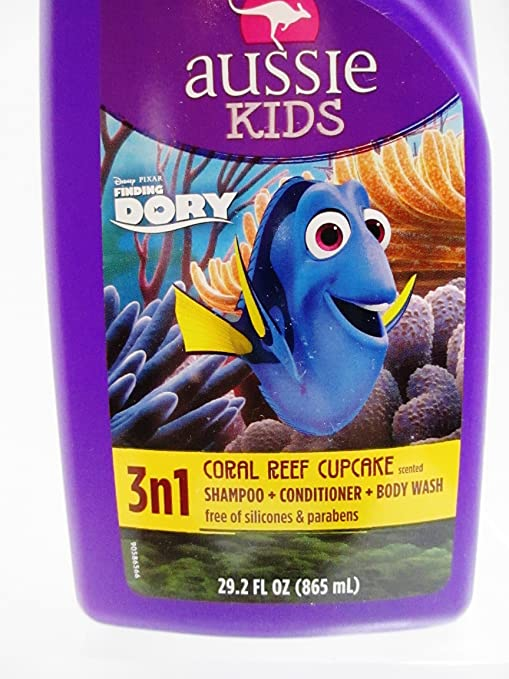 Aussie Kids Finding Dory Coral Reef Cupcake 3 N 1 Shampoo, Conditioner & Body Wash - 29.2...