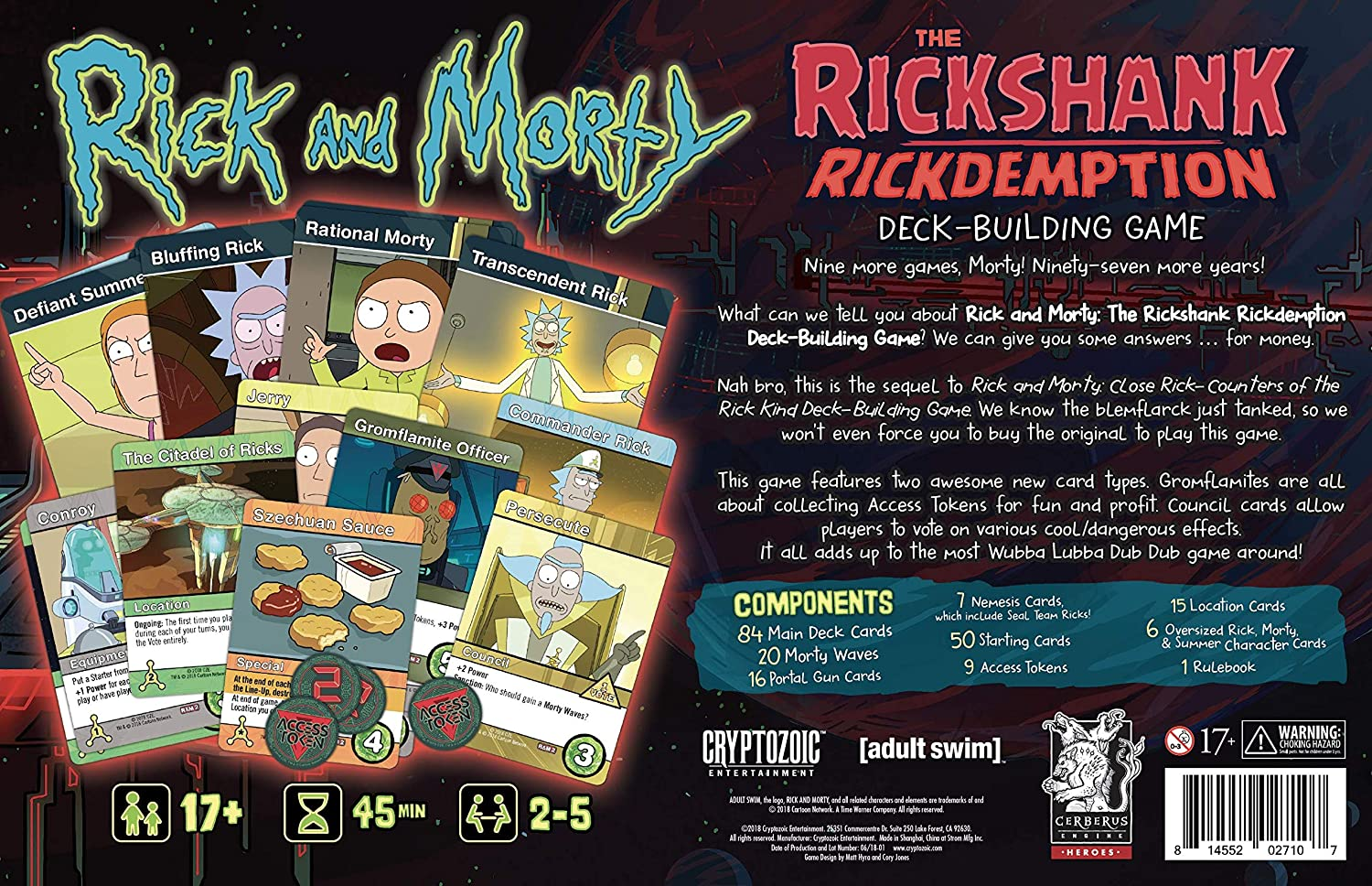 Cryptozoic Entertainment CRY02710 Rick and Morty: The Rickshank Redemption - Juego de Mesa (en inglés): Amazon.es: Juguetes y juegos