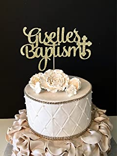 Funlaugh Personalized Baptism Christening Any Name Mr And Mrs Wedding Cake Topper Party Favors