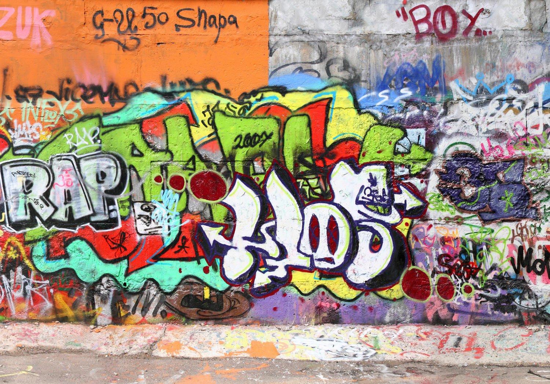 Fototapete Graffiti 2 XL 350 x 245 cm - 7 Teile Vlies Tapete Wandtapete - Moderne Vliestapete - Wandbilder - Design Wanddeko - Wand Dekoration wandmotiv24