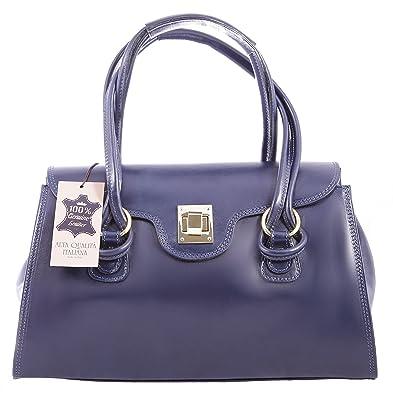 CTM sac à main Femme classique, 37x24x17cm, cuir véritable 100% made in Italy