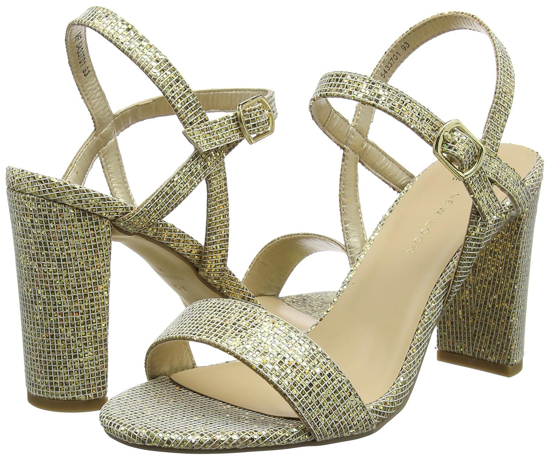 New Look TIMMS 2, Scarpe con Cinturino  alla Caviglia Donna  Cinturino Oro (Gold 93) 7aa139