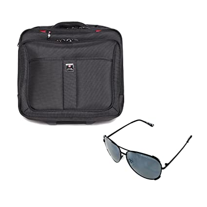bd5e77bf96 Swiss Military Combo of Cabin Size Luggage Cum Overnighter and Aviator  Sunglass (LTB3+SUM54)  Amazon.in  Bags