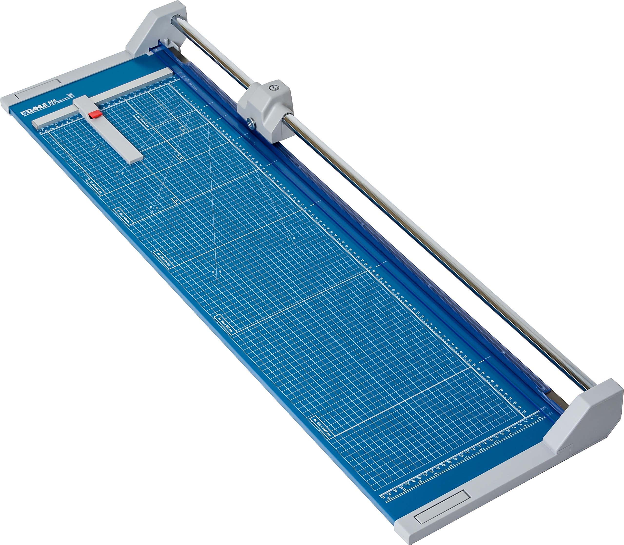 Dahle 556 Professional Rolling Trimmer, 37-3/4'' Cut Length, 14 Sheet Capacity, Self-Sharpening, Automatic Clamp, German Engineered Paper Cutter