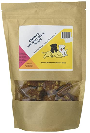 grannys kitchen doggie treats peanut butter banana bites - Grannys Kitchen