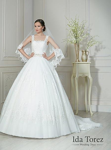 Ida torez - Vestido de novia - trapecio blanco blanco