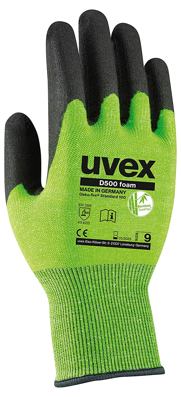 Gant de Protection Contre Les Coupures Taille 9 Gants de Travail uvex D500 Foam