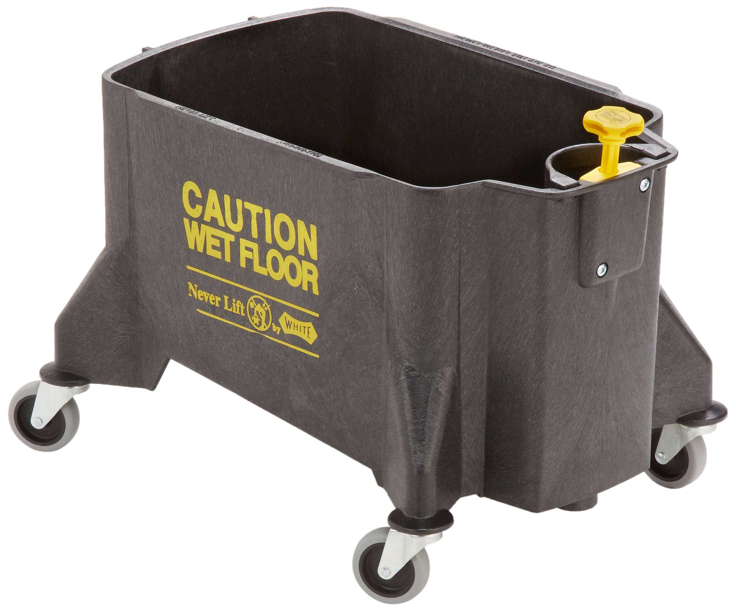 Impact 460 Neverlift Bucket with 3'' Casters, 46 qt Capacity, Gray