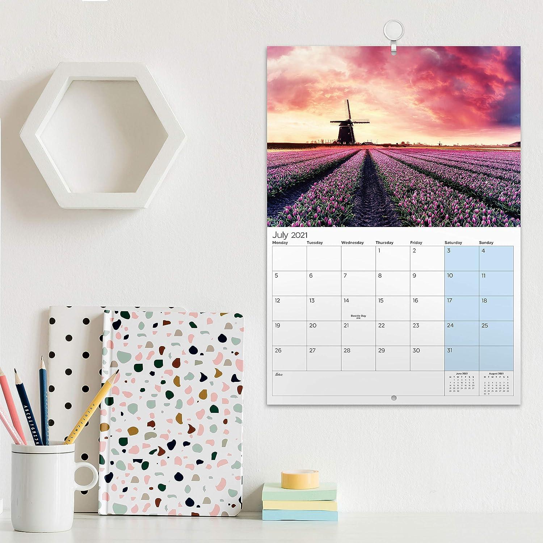 Eono by Amazon - Calendario 2021 Pared, Calendario 2021 Sobremesa, Calendario de Enero de 2021 a Diciembre de 2021, 29,7 x 21 x 0,5 cm: Amazon.es: Oficina y papelería