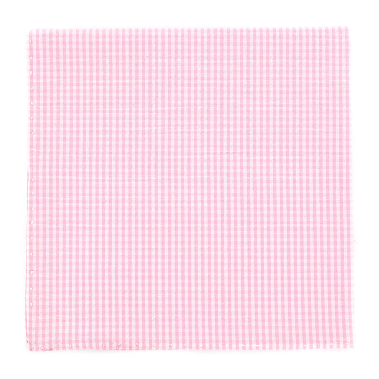 x 12.5 New Finamore Napoli Pink Micro-Check Pocket Square