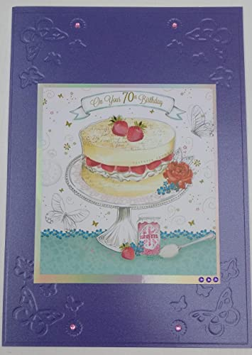 70th Birthday Card With Personalised Braille Message For The Blind Or Visually Impaired
