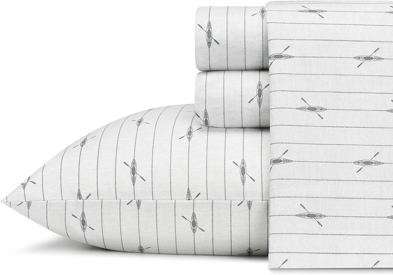 Eddie Bauer Downstream Cotton Percale Sheet Set, Twin