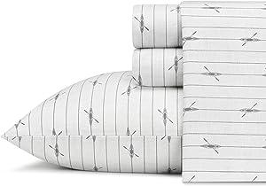 Eddie Bauer Downstream Cotton Percale Sheet Set, Queen