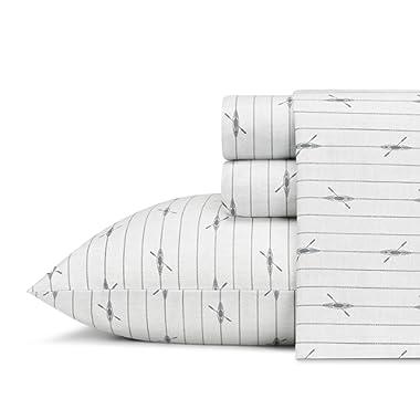 Eddie Bauer Downstream Cotton Percale Sheet Set, Queen,
