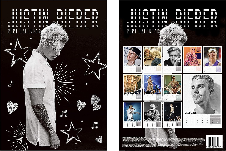 Justin Bieber 2021 Calendario A3