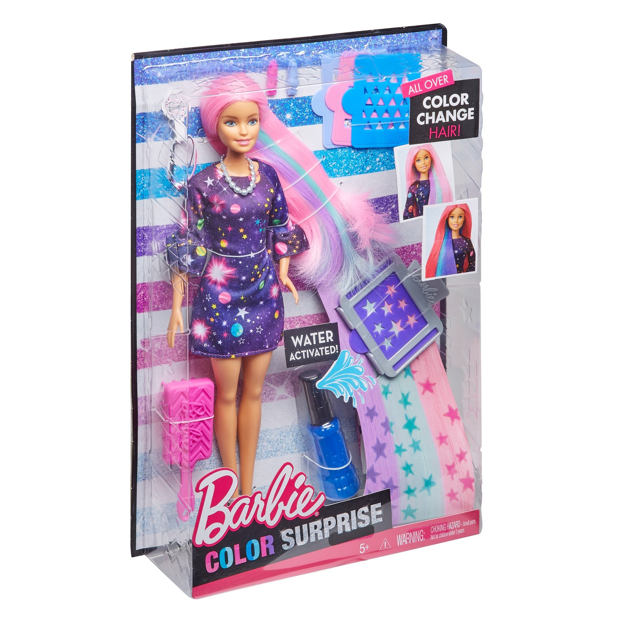 Barbie Color Surprise Doll Pink Fhx00 Playsets Toys Games