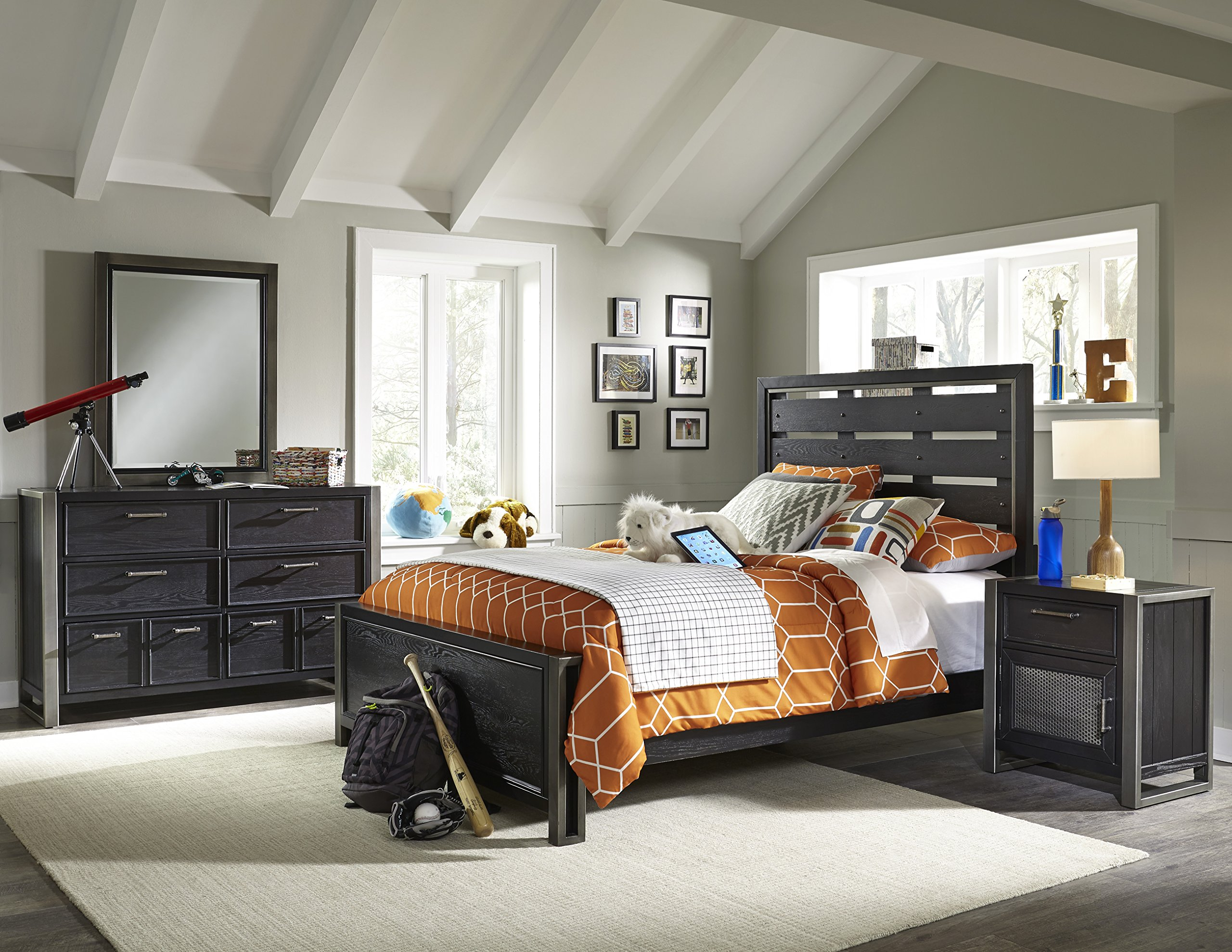 Pulaski Graphite Youth 4 Piece Bedroom Set, Twin by Pulaski