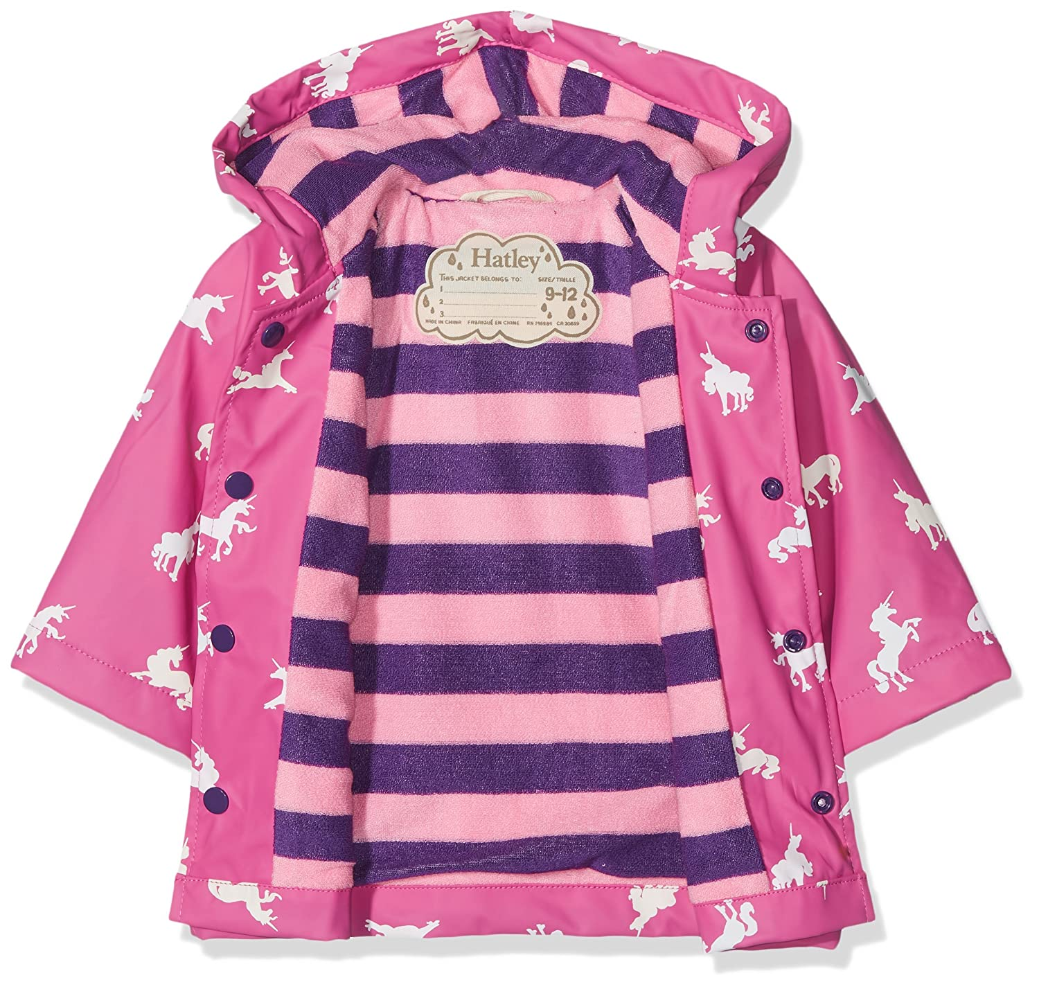 Hatley Baby-Girls Baby Classic Printed Raincoat Blue