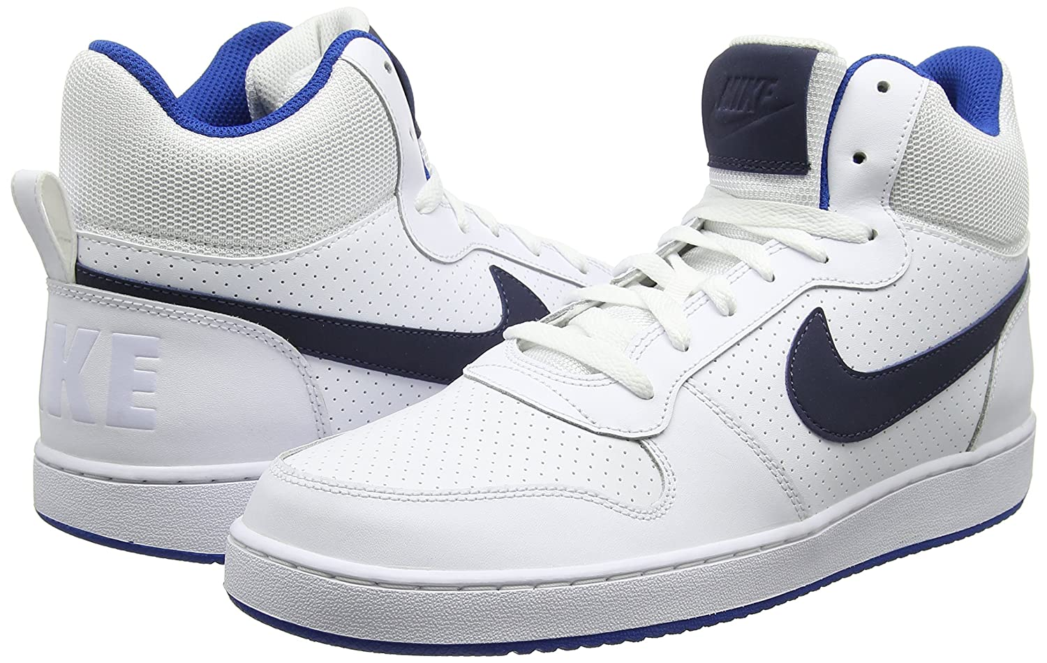 the latest e069b ab3c8 Nike Altas Court Borough Mid, Zapatillas Altas Nike para Hombre Blanco  Zapatillas (White Thunder Blue-jay) 41f2d05 - kylie-cosmetics.online