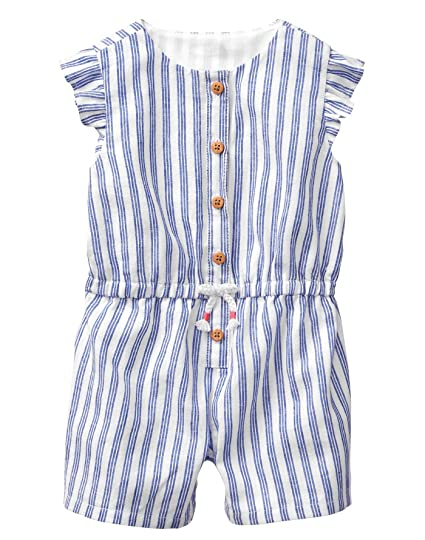 224be6cd644 Amazon.com  Gymboree Baby Girls 1-Piece Striped Button Down Bodysuit   Clothing