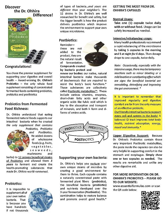 Amazon Com Dr Ohhira S Probiotics Original Formula 60 Caps With