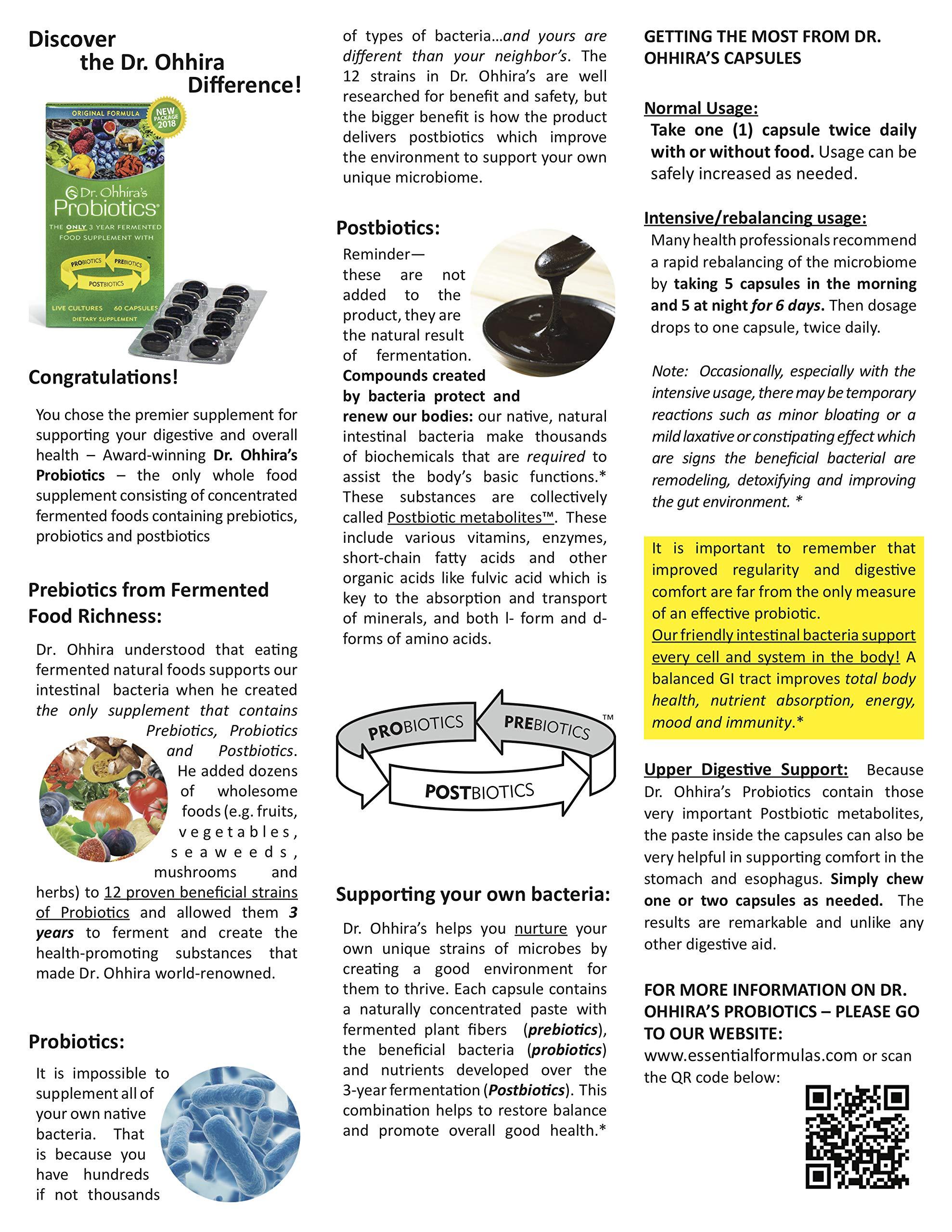 Dr. Ohhira's Probiotics, Original Formula, 60 Caps with Bonus 10 Capsule Travel Pack by Essential Formulas (Image #6)