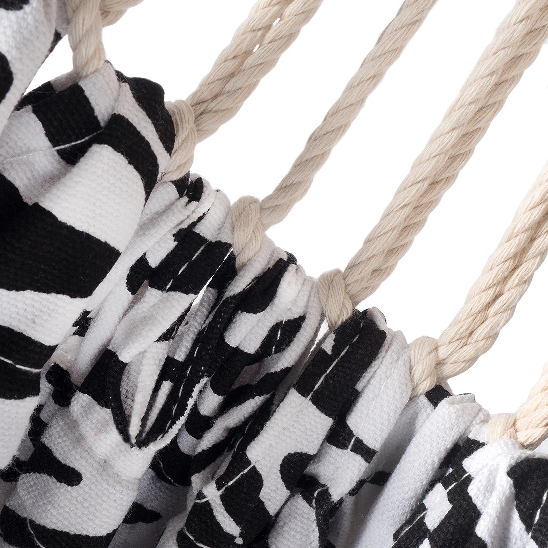 Ampel 24 Hängematte im Set mit Sicherung und Holz Gestell Gestell Gestell Madagaskar 400 cm, Hängemattengestell braun wetterfest, Stabhängematte bunt gestreift b327e9