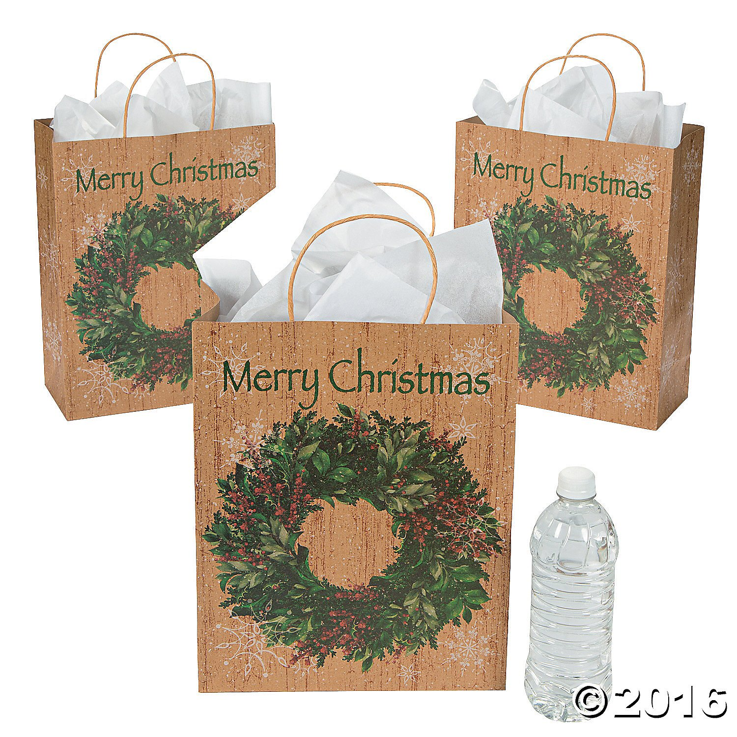 Amazon large holiday wreath kraft gift bags 12 pack 10 x 4 amazon large holiday wreath kraft gift bags 12 pack 10 x 4 12 x 12 34 with 3 12 handles paper health personal care jeuxipadfo Choice Image