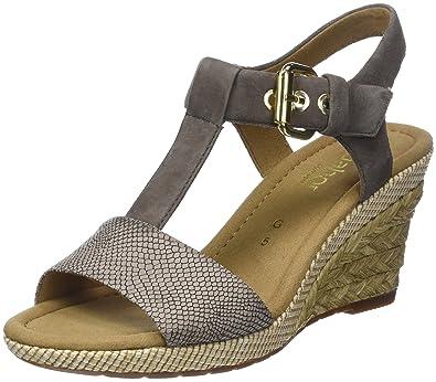Gabor Shoes Damen Comfort Sport Riemchensandalen, Braun (Torba Fango (Bast), 5bc6e394fd