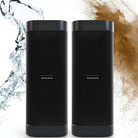 Dockin D Mate Bluetooth Speaker With Power Bank 16 Hour Battery 6 700 Mah Outdoor Water Protection 25 Watt Speaker With Stereo Mode Mp3 Hifi